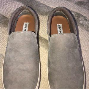Steve Madden Gillis Sneakers (Grey Suade)